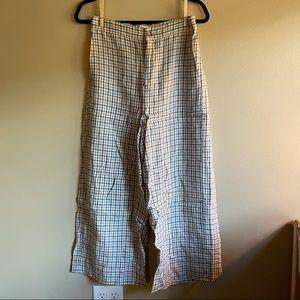 Madewell Women's Linen Plaid Pants Small